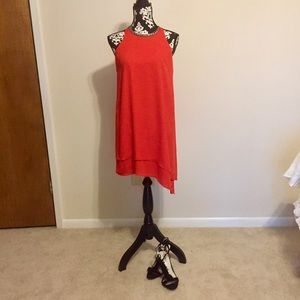 Gianni Bini red orange sleeveless dress size S